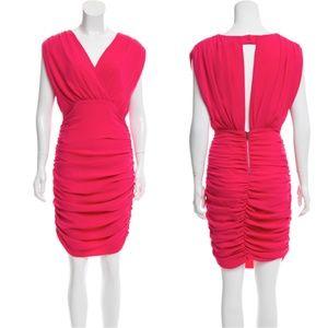 ALICE + OLIVIA V-Neck Knee-Length Dress